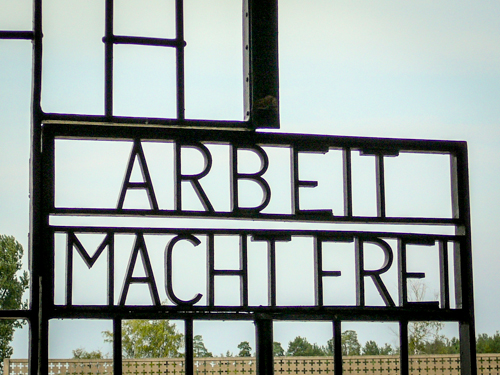 Work Makes You Free, Sachsenhausen