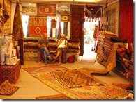 Jason and Debbie in the Carpet Shop