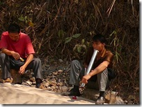 Laos Road Workers