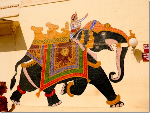 Elephant Painting at Udaipur City Palace