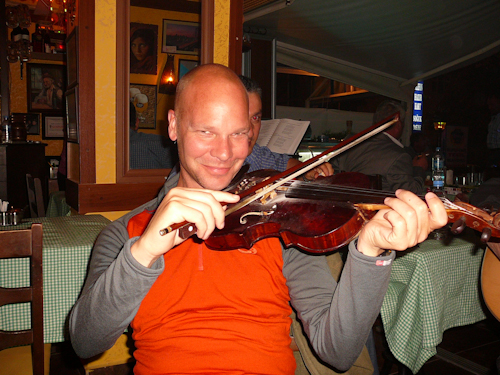 Man Plays The Fiddle