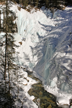 Ice Climbers, Johnstone Canyon, Alberta