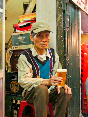 Beer Shop Owner, Hanoi, Vietnam