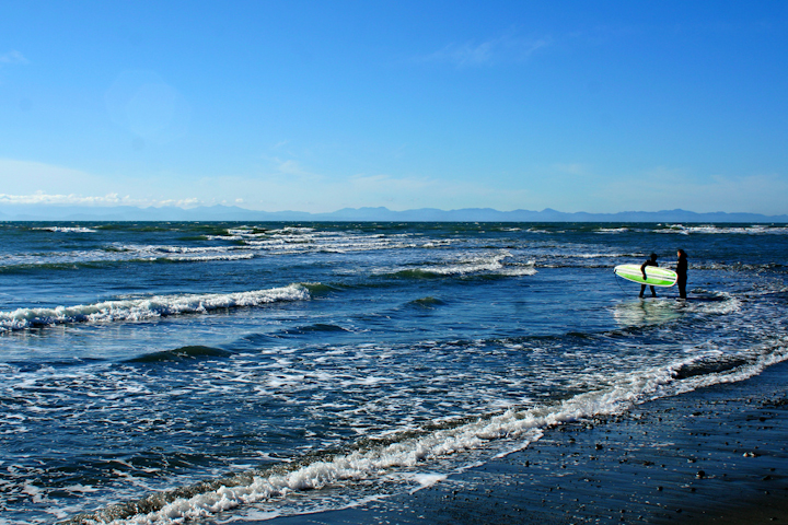 Surfing At Jordan River, BC