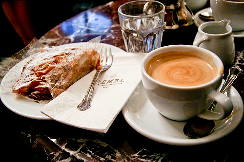 Viennese Coffee and Strudel