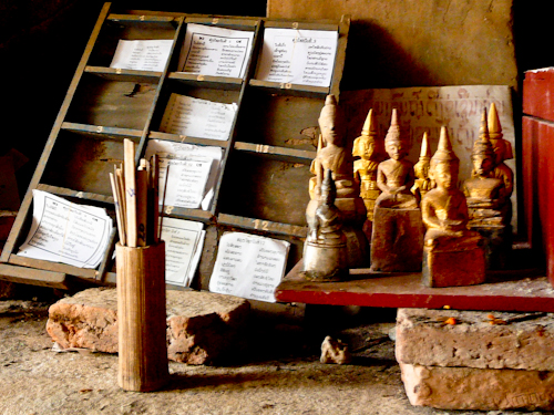Fortune Sticks at Pak Ou Cave, Luang Prabang, Laos