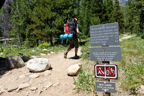 Death Canyon Trailhead, Teton Crest Trail, Grand Teton National Park, Wyoming