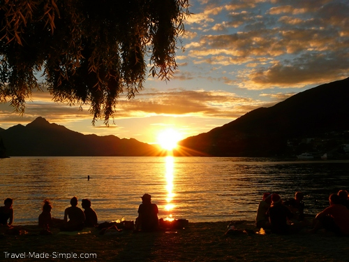 Queenstown Christmas sunset