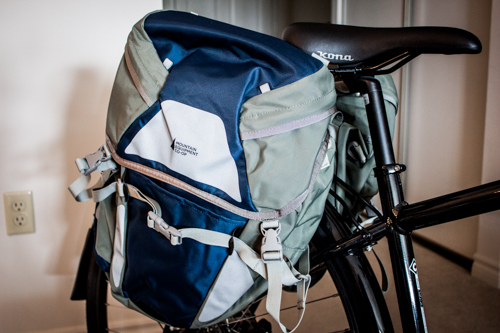 Cycle touring panniers.