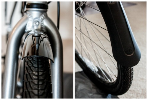 Fenders for cycle touring.